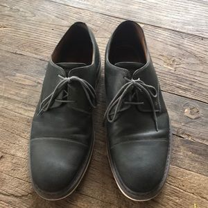 Rockport Gray Leather Oxford Dress Shoes Size 13